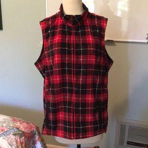 Basic Editions Zip Up Fleece Vest